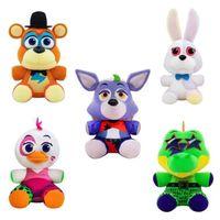 Novo estilo 20cm cinco noites no FnaF Fnaf Brinquedos de pelúcia Freddy Bear Foxy Chica Bonnie Suchido Animal Bonecas Xmas Aniversário Presentes