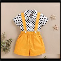 Sets Baby Clothing Baby, Kids & Maternitybaby Girls Boys Summer Shirt Suspenders Shorts Set Infant Toddler Outfits Polka Dot Short Sleeve To