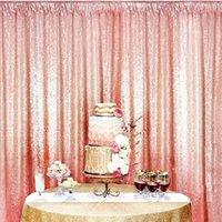 Décoration de fête farotte Shimmer Sequin Restaurant Rideau de mariage Festive Po Booth