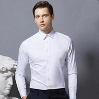Men's Dress Shirts Long Sleeve Man Classic Non-iron Stretch Basic Wedding Evening Dresses For Bridesmaids Standard-fit Male Clothing