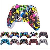 Pintura de camuflaje Pintura de silicona Protectora de la piel Papita para Xbox One Controller Protector Thumb Taps de agarre en la bolsa de OPP Color sólido