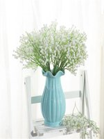 Gypsophila Artificial Flower Bridal Bouquet Baby's Breath Fake Silk Flowers Plant For Home Wedding Decoration Decorative & Wreaths