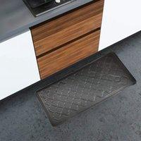 "Art3D 39 ""X20""프리미엄 안티 피로 편안함 매트 카펫 추가 지원 및 두꺼운 미끄럼 방지 편의 - 주방 사무용 책상 (39x20 : 블랙)"