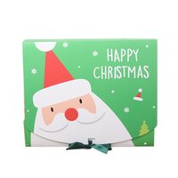 Christmas Eve Big Gift Box Santa & Fairy Design Papercard Kraft Present Party Favour Activity Box Red Green OWB10111