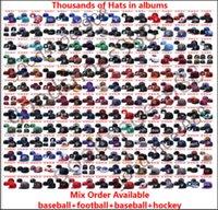2021 Top Qualität Großhandel Baseball Sport Team Snapback Hüte Alle Fußball Pom Poms Winter Strickkappe Einstellbare Sportvisiere Hip-Hop Caps Einbauhut Mehr als 10000+