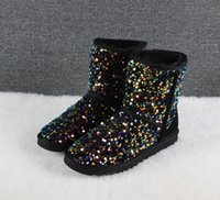 2022 designer Snow boots Women Winter Fashion Classic Short Ankle Knee Bow girl Boot US 5-10