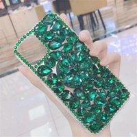 블링 크리스탈 다이아몬드 라인 석 3D 돌 iphone 11 프로 최대를위한 전화 케이스 커버