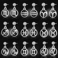 LavixMia Authentic Edelstahl 12 Sternzeichen Schmuck Ohrring Großhandel Weibliche Konstellation Tropfen Ohrringe Baumeln Kronleuchter
