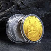 2021 Potential Favoriten Goldmünzen Geschenk für Freund Familie Dogecoins Dogte Hunde Sammlung Werbeaktion Gedenkmünze