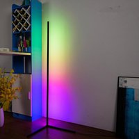 Modern Simple Led Rod Floor Lamps For Living Room Bedroom Atmosphere Standing Indoor Light Fixtures Nordic Rgb Corner Lamp