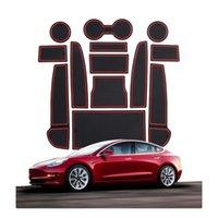 Для Tesla Model 3 Автомобиль Внутренняя пылезащитный противоскользящий коврик Аксессуары для дверного хранения Подлокотник Коробка ворота Слот