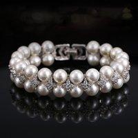 Pulsera de perlas de agua dulce de plata esterlina 925 Sra. Estilo Zircon Cadena de doble capa Pulsera de taladro Joyería 210507
