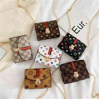 Kinder Taschen Mode Designer Blume Mini Square Schönes Pop Mädchen Prinzessin Messenger Bag Zubehör Geldbörse Brieftasche Handtasche G31908