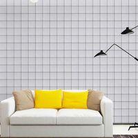 Fondos de pantalla PVC autoadhesivo blanco negro papel tapiz rollo para las paredes impermeable rosa papel etiqueta etiqueta decoración de la cocina