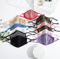 Tasarımcı Yüz Maskeleri Ayarlanabilir Kulak Toka Parlak Shining Elmas Rhinestone Maske Nefes Toz Geçirmez Yıkanabilir Ağız Kapak YL516