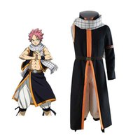 Anime FAIRY TAIL Cosplay Costume Etherious Natsu Dragneel Cosplay Costumes Halloween Carnival Party Full Sets Costumes scarf G0913