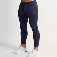 Men's Pants Gyms Skinny Jogger Men Running Sweatpants Fitness Bodybuilding Sports Zipper Pocket Male Jogging Trousers