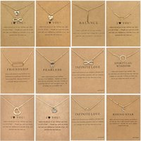 Dogeared Necklace With Gift card Elephant Pearl Love Wings Heart Star Skull Zodiac sign Pendant For women Fashion Jewelry