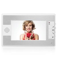 YobangSecurity 7 Inch Wired Video Door Entry System Color LCD Screen Monitor Intercoms Phones