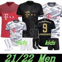 2021 2022 바이에른 뮌헨 리브 덤멜 축구 유니폼 남성 키트 21 22 Vidal Lewandowski Muller Sane 홈 멀리 3 차 어린이 축구 유니폼