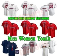 Los Ángeles 2021 Juego de All-Star Angels Baseball Jerseys Angels Mike Trout Shohei Ohtani Anthony Rendon Reggie Jackson Jefy Marte Andrelton Zack Hombres Mujeres Jóvenes