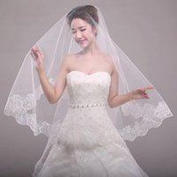 Bridal Veils er Schleier Hochzeit Kein Kamm Zubehör Spitze Blatt Weiche Tüll Accessorios Mujer Vestido de Noiva