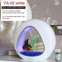 Sunsun 6L Mini Fish Tank Ecology Aquarium Столешница с встроенным фильтром и светодиодным светом 110-220V 50 Гц Аквариумы