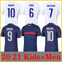 Hombre + Niños 2021 Griezmann Mbappe Soccer Jersey Kante 20 21 Centenario Pogba Camisa Maillot de Fútbol 2020 Francia Zidane Giroud Matuidi Kimpembe Ndombele Thauvin 100