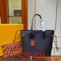 جودة عالية المرأة حقيبة فاخر مصمم ليوبارد M45686 حقيبة حمل جلد أزياء السيدات حقائب التسوق حقائب التسوق