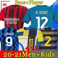 INTER MILAN كرة القدم جيرسي ERIKSEN LUKAKU وتارو ALEXIS 20 21 بيريسيتش SKRINIAR غودين قميص كرة القدم 2020 2021 زي الرجال + الاطفال عدة