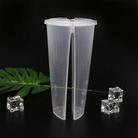 600 ml en forma de corazón Double Share Cup Tazas de plástico transparente Tazas desechables con párpados Leche Té Jugo Tazas Para Amante Pareja 361 S2