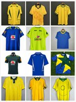 1991 1993 1957 1970 1994 Brasils Soccer Jerseys Rivaldo 1988 1998 2000 2002 2004 2006 2010 Vintage Classic Retro Romario Ronaldo Ronaldinho Camisa de Futebol
