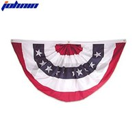 45*90cm American Flag Ornaments Donald John Trump Biden Stripe Printed Garden Wall Polyester Fan-shaped Flags Skirt Decorations H42801