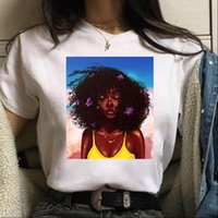 Womens Tops Cool African American Melanin Black Girl T Shirt Women Sexy 90s Hip Hop Style Tshirt Streetwear Casual Female