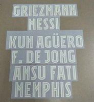 2021-2022 UL home F.DE JONG GRIEZMANN MESSI ANSU FATI KUN AGUERO MEMPHIS nameset patch badge