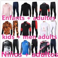 Niños + Hombres de fútbol Chándal de fútbol Chandal Futbol Survetement Foot Jerseys 2021 2022 Entrenadores de fútbol adulto Jersey Training Chaqueta de desgaste 1056