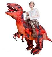 التميمة دمية زي جديد جديد الكبار أطفال نفخ زي ركوب ديناصور هالوين دعوى هدايا عيد ميلاد التميمة زي
