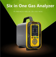 portable 6 in 1 multi compound gas detector CO O2 H2S EX CO2 NOX Nitrogen oxides 6 gas analyzers gas tester with inner pump