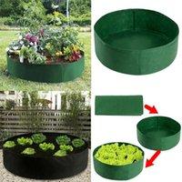 Levantada Planta Bed Jardim Flor Plantador Elevado Feltro de Feltro Respirável Casa Varanda Varanda Caixa de Vegetais Plantando Crescer Bag Pot Planters Pots