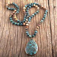 Pendant Necklaces RH Fashion Boho Jewelry Natural Stones With Semi Precious Women Bohemia Necklace Gift Dropship