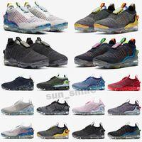 VaporMax 2020 FK Scarpe da uomo da uomo 2020 FK scarpe da corsa Triple Black Runners Dark Dark Grey Pure Platinum Sports Sneakers Sneakers Scarpe da ginnastica