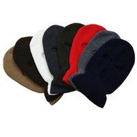 Fashion Custom Design Embroidery Clava Beanie Hats Motorcycle 3 Hole Full Face Knit Ski Mask Hat Uwlf802