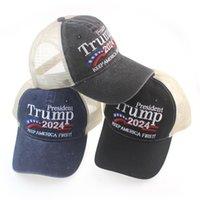 Donald Trump 2024 Patchwork Boné de Beisebol Lavagem Ao Ar Livre Mantenha América Primeiro Hat Sports Bone Bonés DB686 2671 Q2