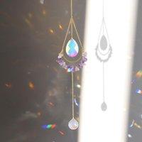 Decorações de jardim Cristal Sun Light Trapping Vento Chime Pendurado Jóias Prismas Pingentes Catching Windchimes Decoração ao ar livre