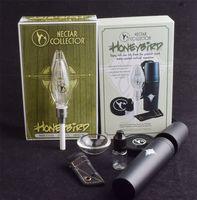 Coletor de kit de néctar de tubo de fumo de vidro com linha de quartzo de quartzo substituição titânio cerâmico unha recipiente recipiente para plataformas de bongos