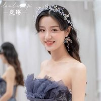 Япония и Южная Корея Новая невеста MORI Headgress Super Crystal Hoop Fairy Ремень для волос Студия Свадебная поездка Платье