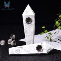 Naturvit Turkos Quartz Crystal Rör Rökning Cigarett 3 Filter 1 Borste