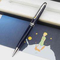 Qualität High Blue Le Petit Prince Rollerball Kugelschreiber Silber Metallkappe mit tiefem Edelharzfass Stift für Geschenk