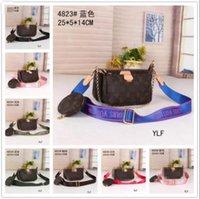 Lüks Kadınlar 3PS Mini Pochettes Handtasche Borsa Omuz Çantası Bayan Crossbody Bel Bolso Deri Çanta