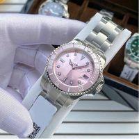النساء ساعات المعصم السباحة للماء التلقائي الميكانيكية ووتش 31 ملليمتر 316l الفولاذ المقاوم للصدأ الياقوت الأزياء الحديثة ساعة اليد montre de luxe